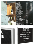 Executive Felt Letter board for Cafe / Clubs