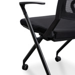 Modern Designer Office Visitor / Training Room Chair - Black Mesh Back