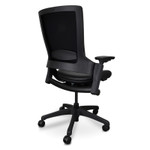 Flax Ergonomic Leather Office Chair without Headrest - Black