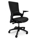 Flax Ergonomic Leather Office Chair - Black