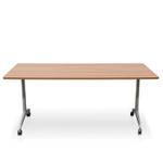 Faxla Foldable Mobile Training Room Table - Rectangular Flip top
