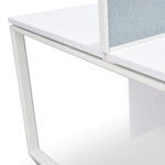 Aura Desks for 4 People - Double Sided Workstations - White