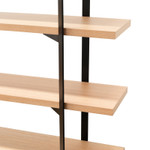 IG Industrial Style Open Bookcase Shelves - Natural Wood