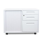 Adze Mobile Under Desk Office Storage Cabinet - White
