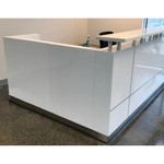 Hugo Corner Reception Counters Units With Full Modesty