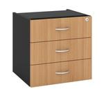 OM Wooden Fixed Desk Pedestal