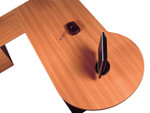 OM P Shape Office Desk with Top 25mm