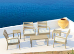 Artemis XL Lounge Cushioned Outdoor Armchair - Stackable
