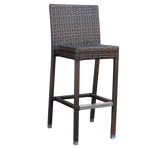 Palm Wicker Outdoor Bar Stool - Stackable