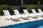 Aqua Sunlounger - White - Stackable