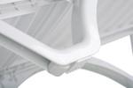 Aqua Sunlounger - White - Stackable