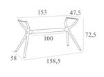 Ibiza Outdoor Hospitality Table Legs - Small, Medium, Large