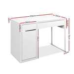 Artiss Home Office Metal Desk With Storage Cabinets - White