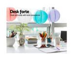 Artiss Rotary White Corner Office Desk with Bookshelf