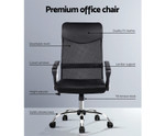 Mesh Executive High Back Office Chair - Black PU Leather