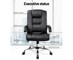 Executive Black PU Leather Office Desk Computer Chair