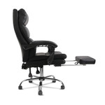 Artiss PU Leather Racing Style Office Desk Chair - Black