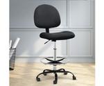 Artiss Fabric Drafting Black Chairs