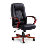 Artiss Semper Executive Leather Wooden Computer Office Chair W211