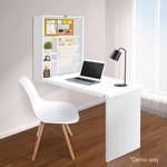 Artiss Foldable Desk with Bookshelf - White