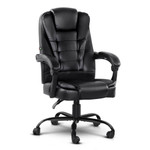 Artiss PU Leather Electric Massage Office Recliner Chair