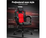 Artiss Black & Red Massage Seat Recliner Racer Office Chair