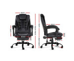 Artiss Electric Massage Recliner Black Chair with Footrest