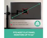 Adjustable Single Desk Mounted Monitor Arm - Black
