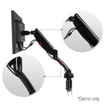 Adjustable Single/Double Desk Mounted Monitor Arms - C-Clamp / Grommet