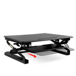 Height Adjustable Desktop - Standing Desk Riser - Black