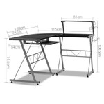 Artiss Corner Metal Pull Out Table Desk