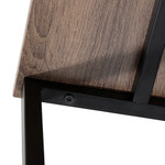 Artiss Student / Computer Desk - Black with Oak Top