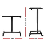 Artiss Sit Stand Portable Computer Mobile Height Adjustable Standing Desk