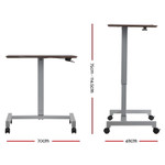 Artiss Sit Stand Portable Computer Mobile Height Adjustable Standing Desk - Grey