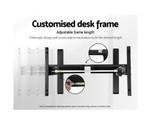 Artiss White/Black Height Adjustable Standing Desk