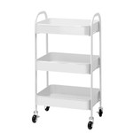 Artiss 3 Tier Kitchen Storage Rolling Utility Cart - 4 Colours