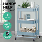Artiss 3 Tier Kitchen Trolley Storage Cart 3TSCREW