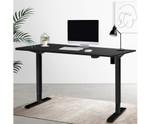 Electric Black/Black Height Adjustable Standing Desk 1000mm