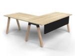 Grove Single Sided Desk with Return and Modesty
