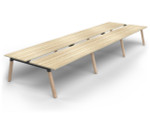 Grove 6 Users Double - Sided Desk