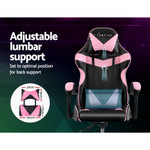 Henry Office Chair Gaming Chair Computer Chairs Recliner PU Leather Seat Armrest Black Pink