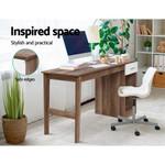 Ole Scandinavian Office Computer Desk Student Study Table Workstation Shelf