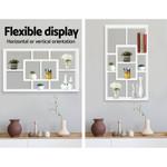 Henry Floating Wall Shelf DIY Mount Storage Bookshelf Display Rack White