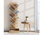 Henry Display 7 Tier- Natural Tree Bookshelf Rack