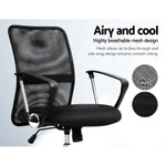 Henry Office Chair Gaming Chair Computer Mesh Chairs Executive Mid Back Black