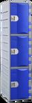 Steelco Heavy Duty 3 Door Plastic Locker 1800