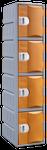Steelco Heavy Duty 4 Door Plastic Locker 1800