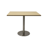 Grosvenor 900mm x 900mm Square Table with Flat Disc Base 540mm Dia Disc Base Plate x 755mm H