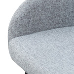 Sofia Fabric Bar Stool - Pebble Grey with Black Legs
