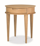 Elga Scandinavian Lamp Side Table with Drawers - Natural